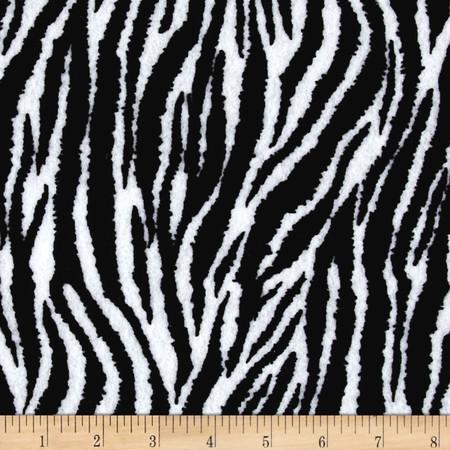 Fanci Felt 9'' x 12'' Cut Craft Felt Zebra Black/White