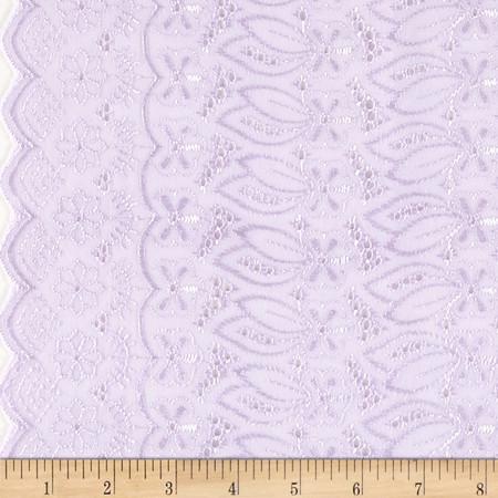 Fancy Eyelet Lilac Fabric