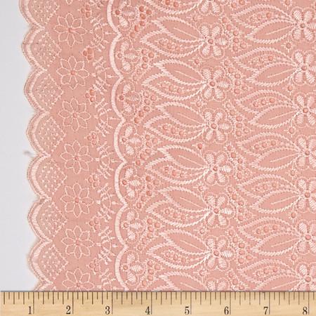 Fancy Eyelet Peach Fabric