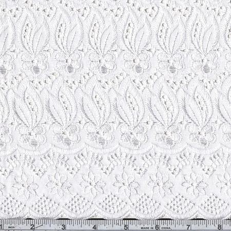 Fancy Eyelet White Fabric