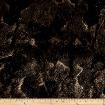 Faux Fur Arctic Fox Black/Brown Fabric By The Yard