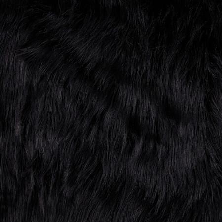 Faux Fur Arctic Fox Black Fabric By The Yard