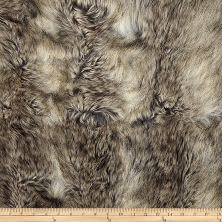 Faux Fur Canadian Fox Stone Fabric By The Yard