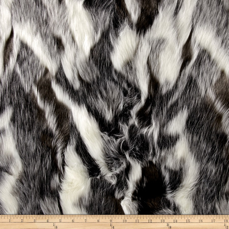 Faux Fur Forest Fox Black Fabric By The Yard