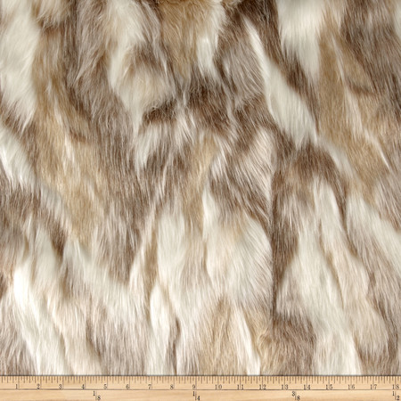 Faux Fur Forest Fox Platinum Fabric By The Yard