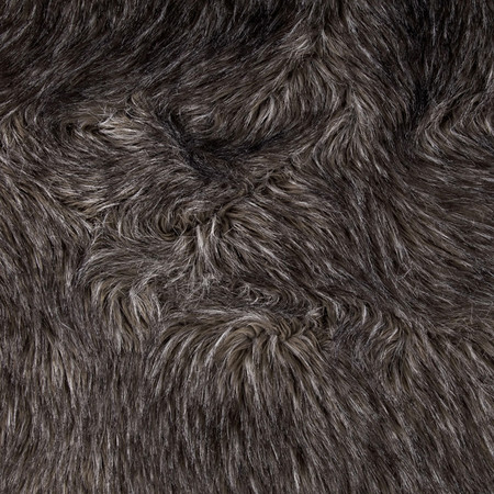 Faux Fur Fox Charcoal Fabric By The Yard