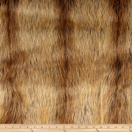 Faux Fur Fox Tail Gold Fabric By The Yard
