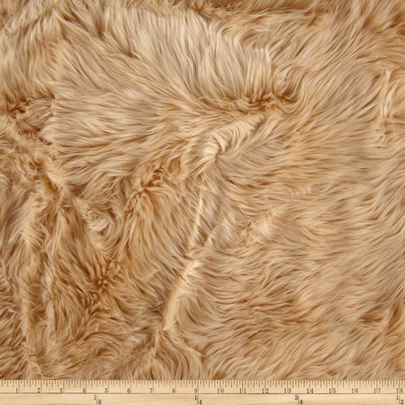 Faux Fur Luxury Shag Camel Fabric By The Yard