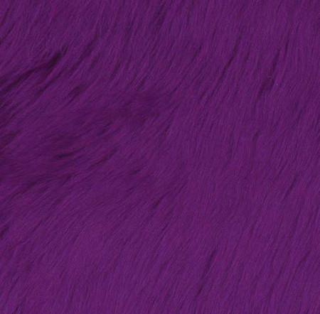 Faux Fur Luxury Shag Purple Fabric By The Yard