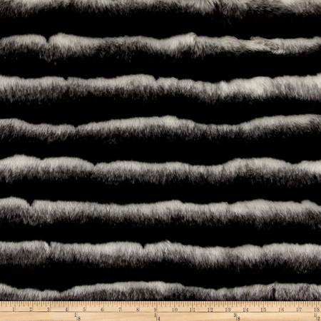 Faux Fur Maki Fur Black White Fabric By The Yard