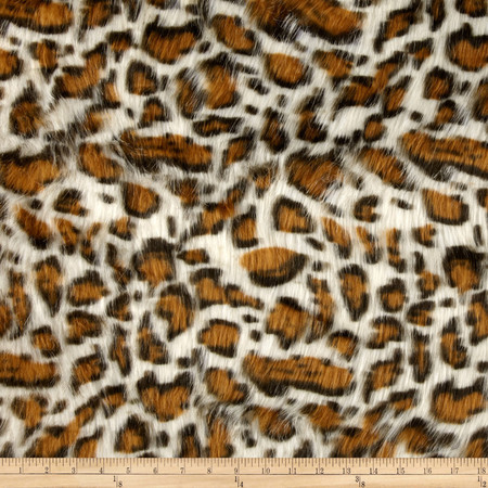 Faux Fur Panther Beige Fabric By The Yard