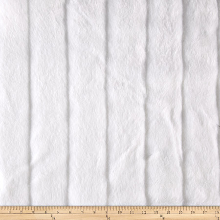 Faux Fur Sheered Fox Stripe White Fabric By The Yard