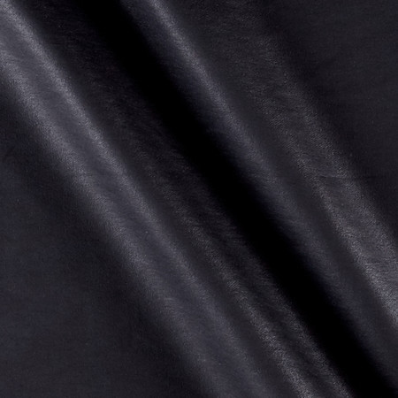 Faux Leather Black Fabric