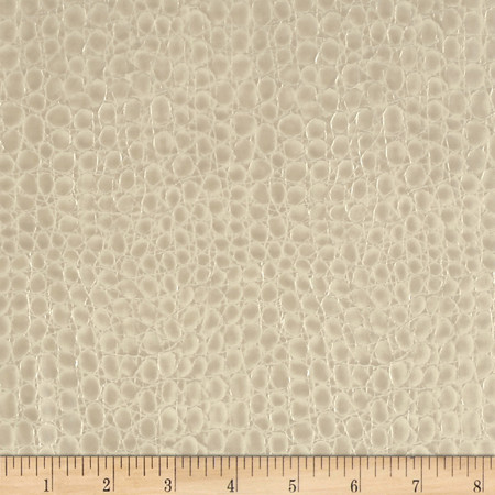 Faux Leather Crocodile Pearl Fabric By The Yard