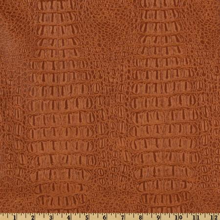 Faux Leather Gator Rawhide Fabric