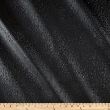 Faux Leather Ostrich Black Fabric By The Yard