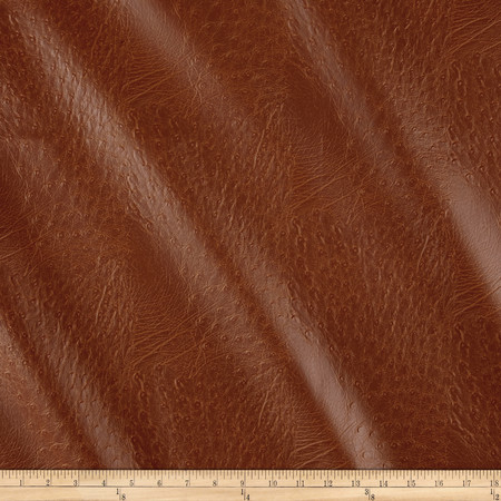 Faux Leather Ostrich Rawhide Fabric By The Yard