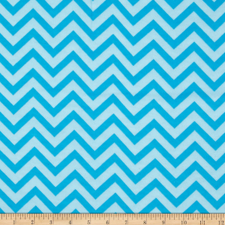 Flannel Chevron Turquoise Fabric By The Yard