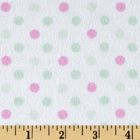 Flannel Dot Party Berry Fabric By The Yard