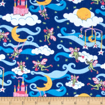 Flannel Prints Elves Royal Fabric