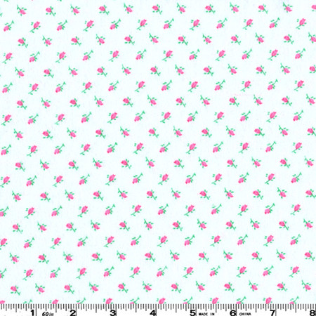 Flannel Roses Pink Fabric By The Yard