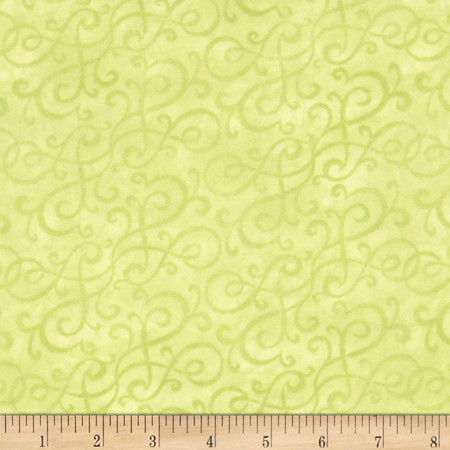 Flannel Scroll Mint Fabric By The Yard