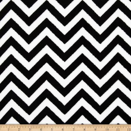 Fleece Chevron Black/White Fabric By The Yard