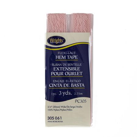 Flexi-Lace Hem Tape 3/4'' x 3 Yard Pink
