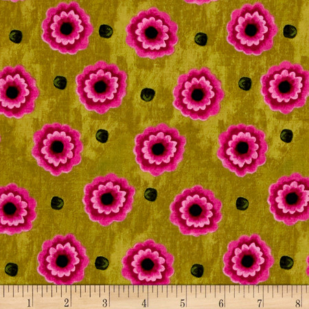 Florianna Floral Green/ Pink Fabric