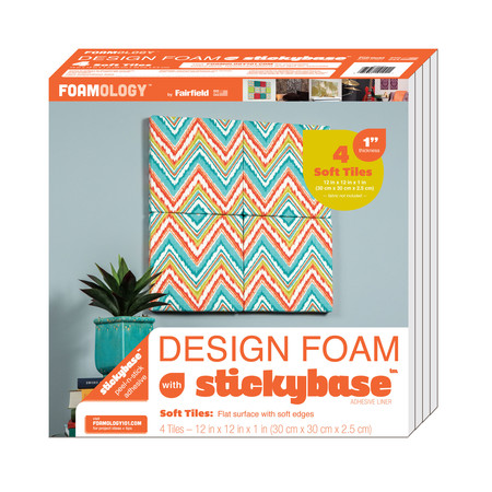 Foamology Four Piece Design Foam Tile Rigid 12'' x 12'' x 1