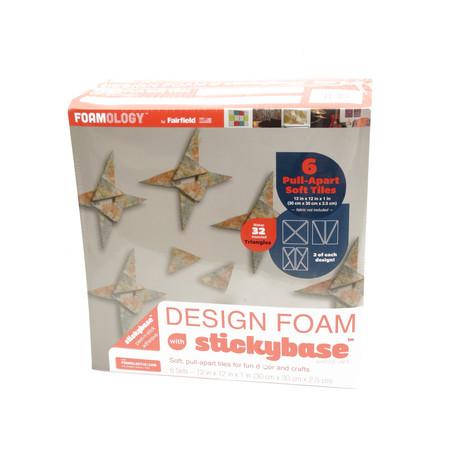 Foamology Six Piece Design Foam Tri-Set 12'' x 12'' x 1
