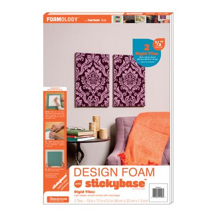 Foamology Two Piece Design Foam Tile Rigid 12'' x 18'' x .5