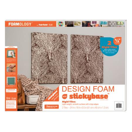 Foamology Two Piece Design Foam Tile Rigid 24'' x 18'' x .5