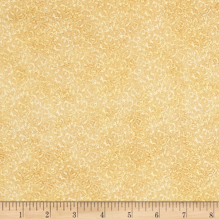Focus II Faded Floral Gold Fabric