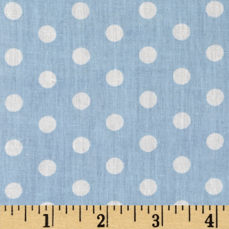 Forever Small Polka Dot Blue Fabric
