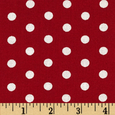 Forever Small Polka Dot Red Fabric