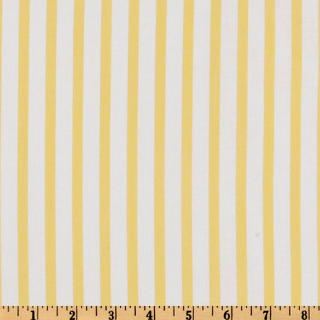 Forever Stripe Yellow Fabric
