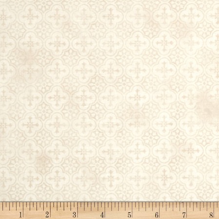French Country Rooster Medallion Tonal Beige Fabric