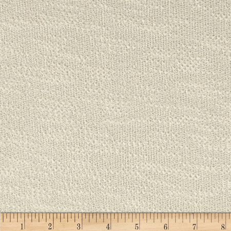 French Terry Knit Slub Solid Cream Fabric