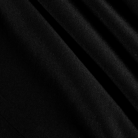 French Terry Knit Solid Black Fabric By The Yard