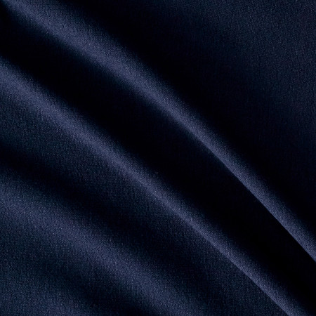 French Terry Knit Solid Navy Fabric By The Yard