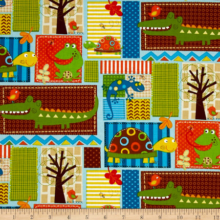 Fun With Nature Mixed Critter Brown Fabric