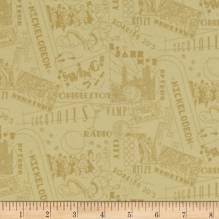 Gatsby Tonal Type Cream Fabric