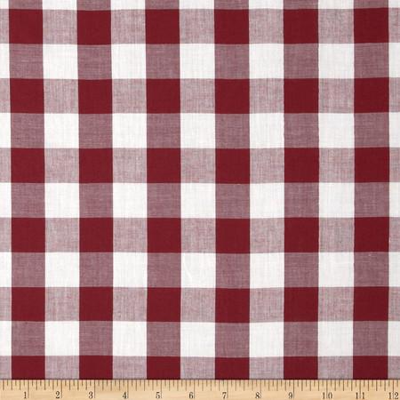Gingham 1'' Checks Galore Burgundy Fabric
