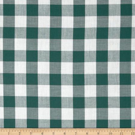 Gingham 1'' Checks Galore Green Fabric
