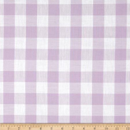 Gingham 1'' Checks Galore Lilac Fabric
