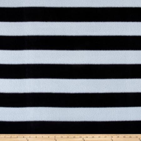 Go Team FleeceSilver/Black Fabric By The Yard