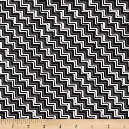 Graphix 3 Chevron Black Fabric