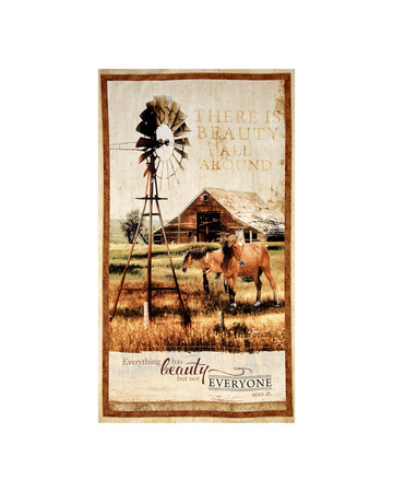 Greener Pastures Large 25'' Panel Multi Fabric By The Yard