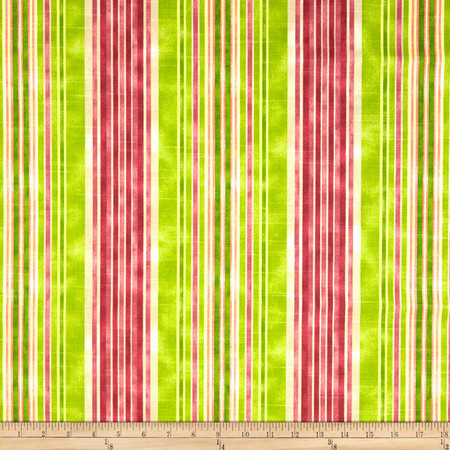 HGTV HOME One Way Stripe Slub Granny Smith Fabric